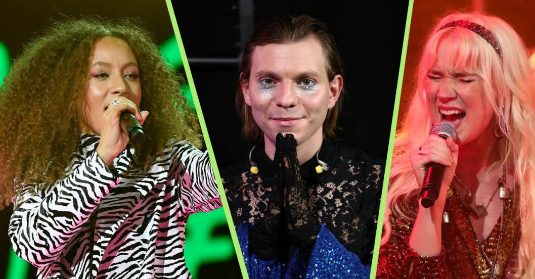 Sunny, Erik-Elias och Emma i Idol 2021