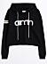 Svart hoodie från Gina tricot och Aimn