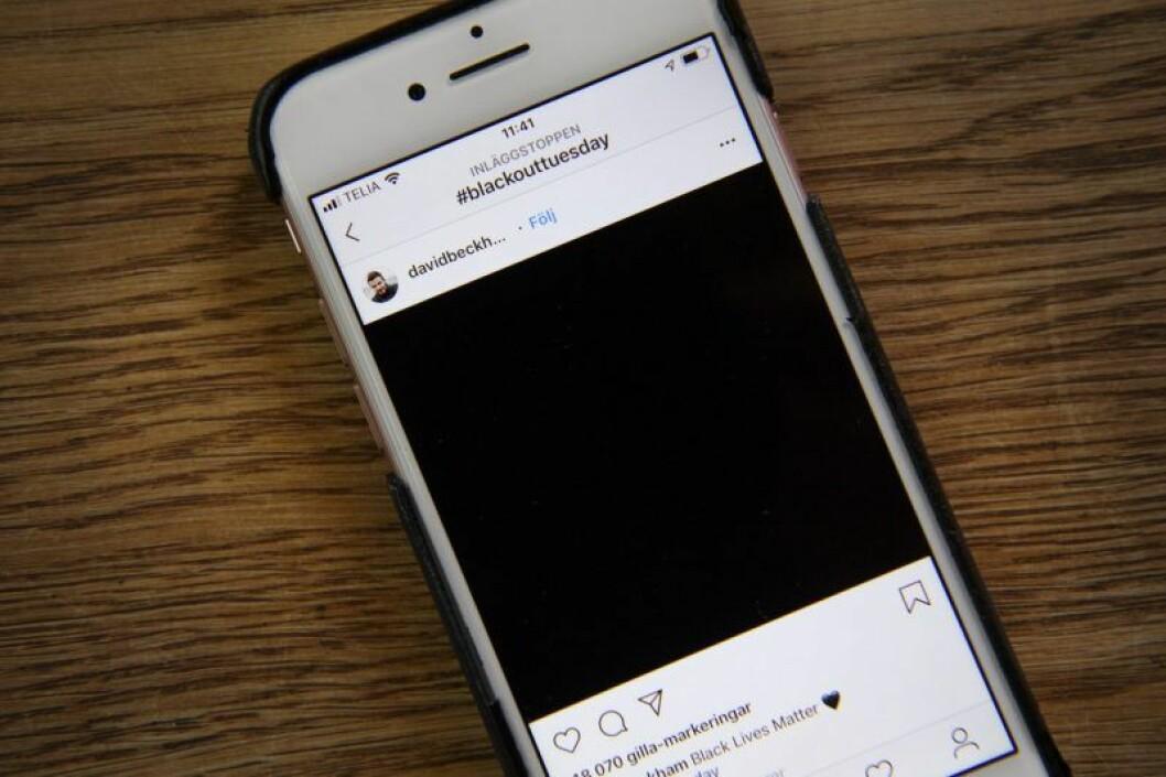 en svart ruta på instagram