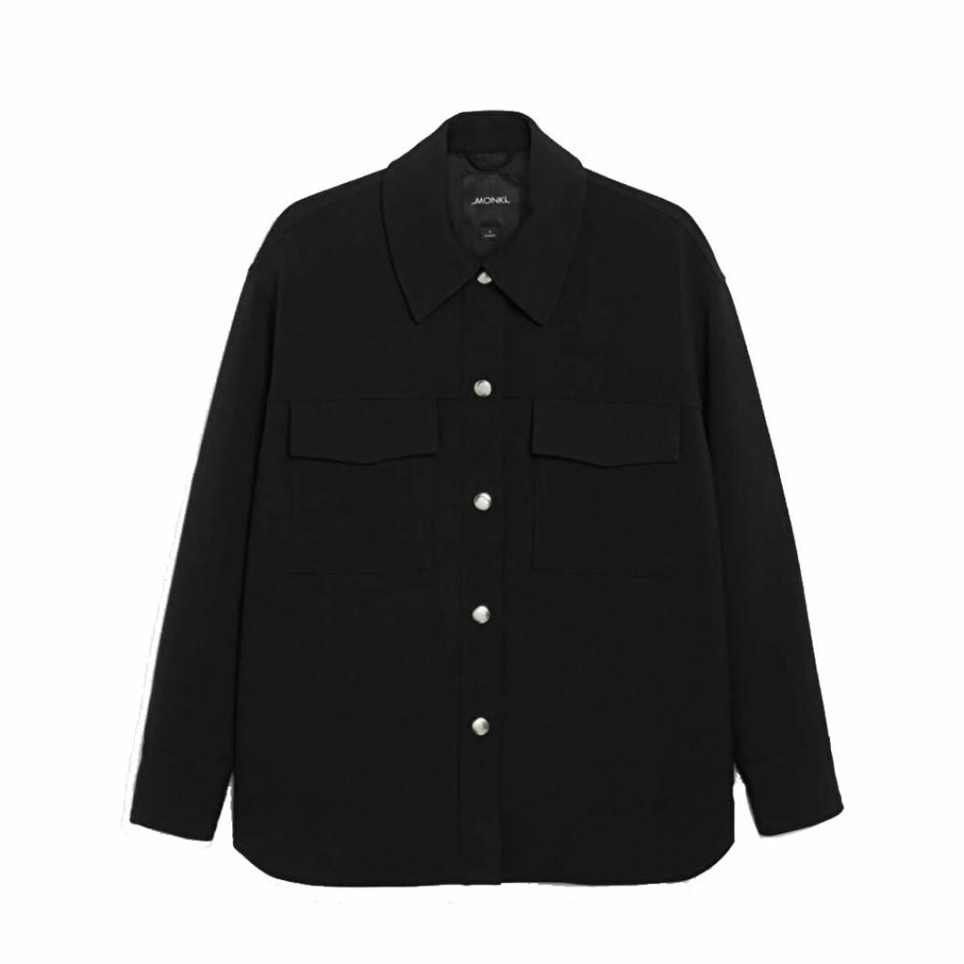 Svart skjortjacka från Monki