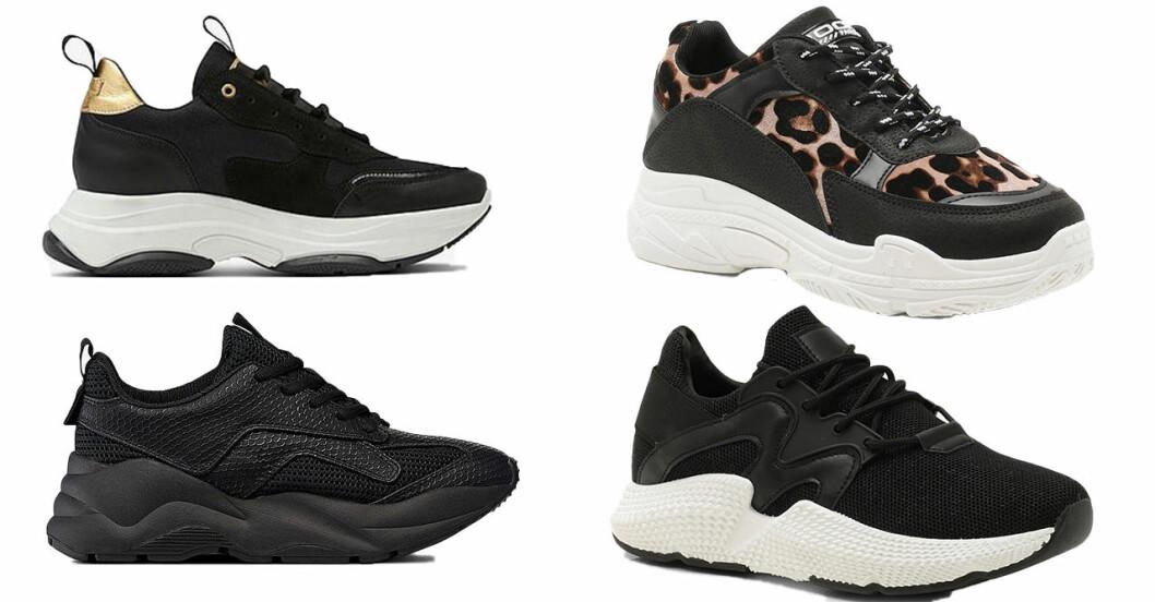 Svarta sneakers till vår och sommar