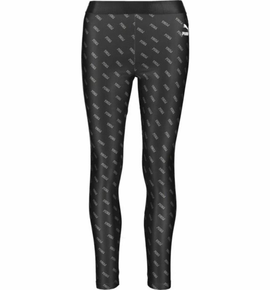 Svarta leggings med tryck