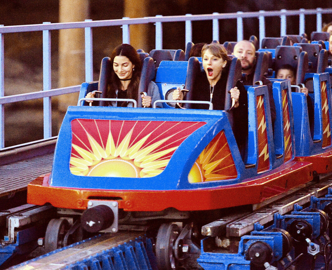 EXCLUSIVE: Taylor Swift and Lily Aldridge enjoy thrilling rides with a 'girls day' at Disneyland. **ORIGINAL DATE TAKEN 04/04/16
