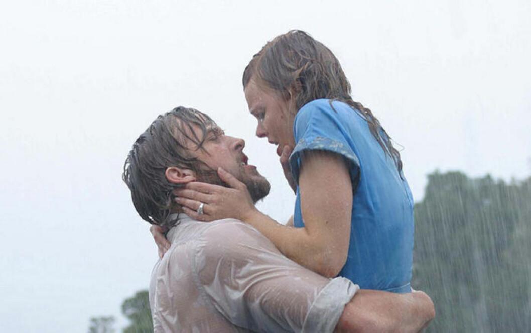 Noah och Allie i regnet