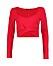 Röd tröja i croppad modell