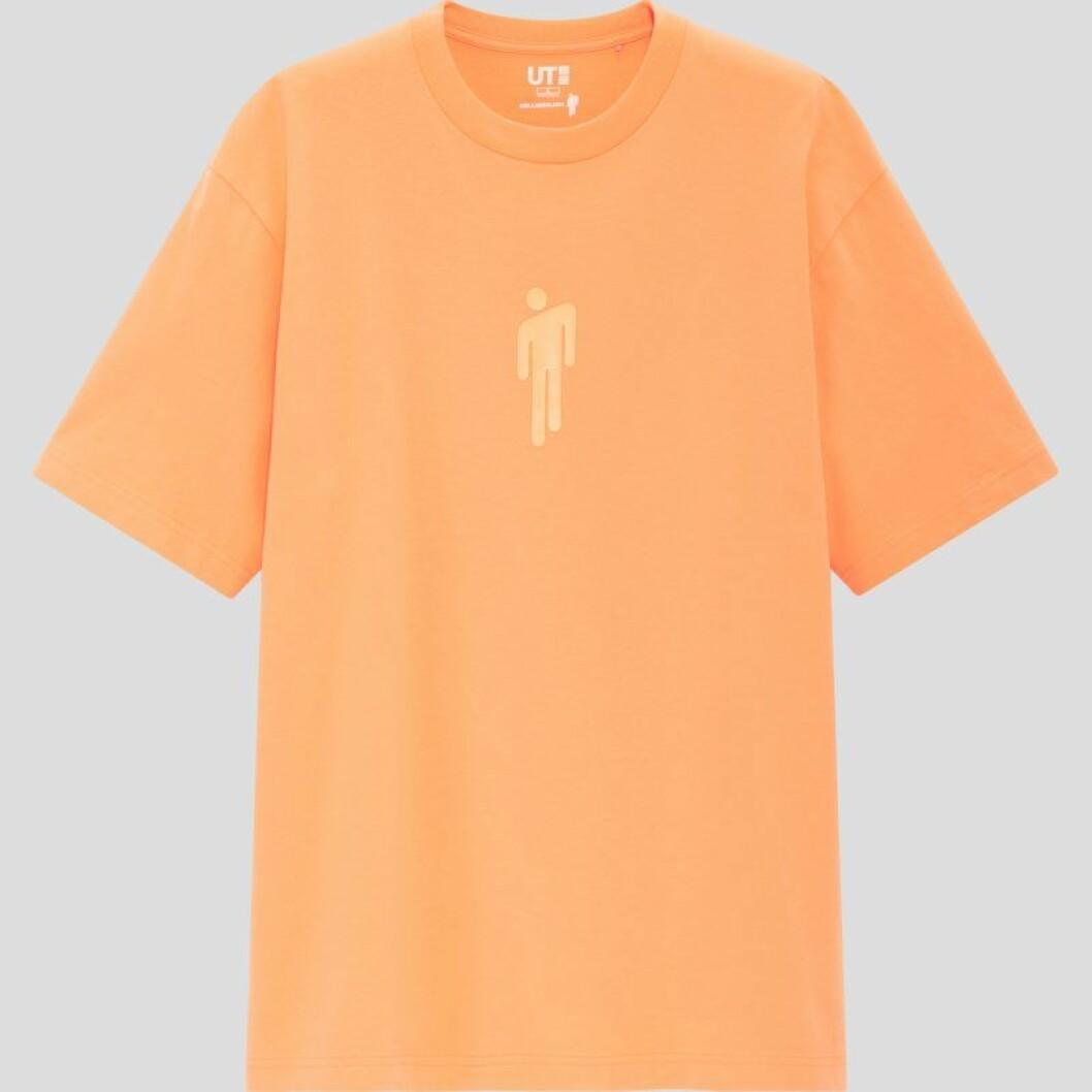 Billie Eilish x Takashi Murakami för Uniqlo: Orange t-shirt med tryck för herr