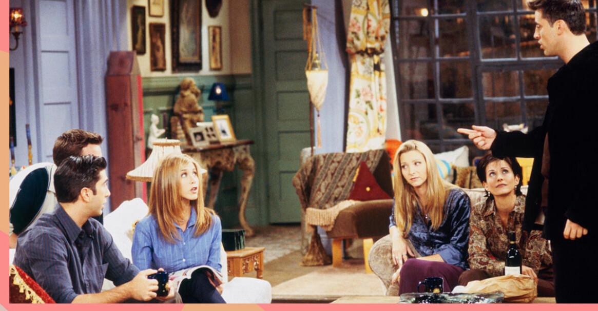 gänget i Vänner hemma hos Monica.
