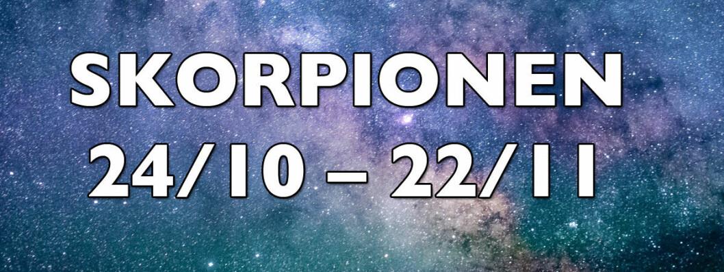 veckohoroskop-skorpionen-vecka-47-2018