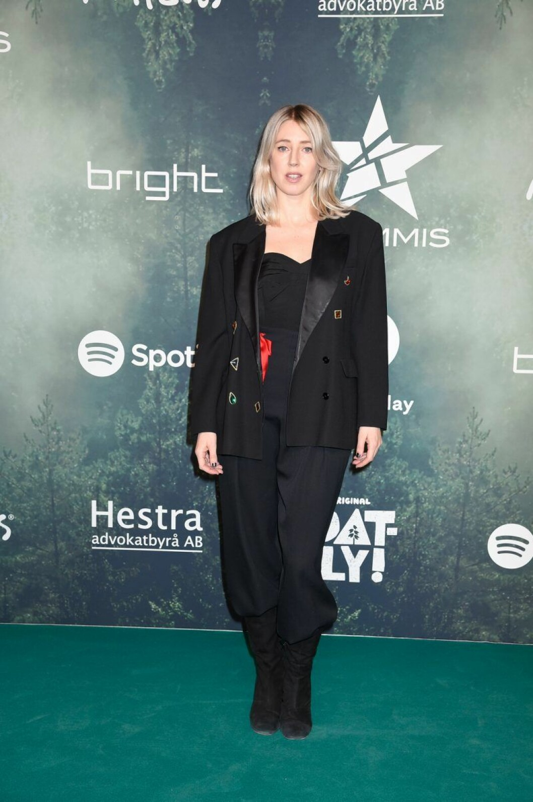Veronica Maggio på röda mattan på Grammisgalan 2020