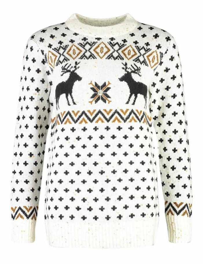 vit jultröja med mönster