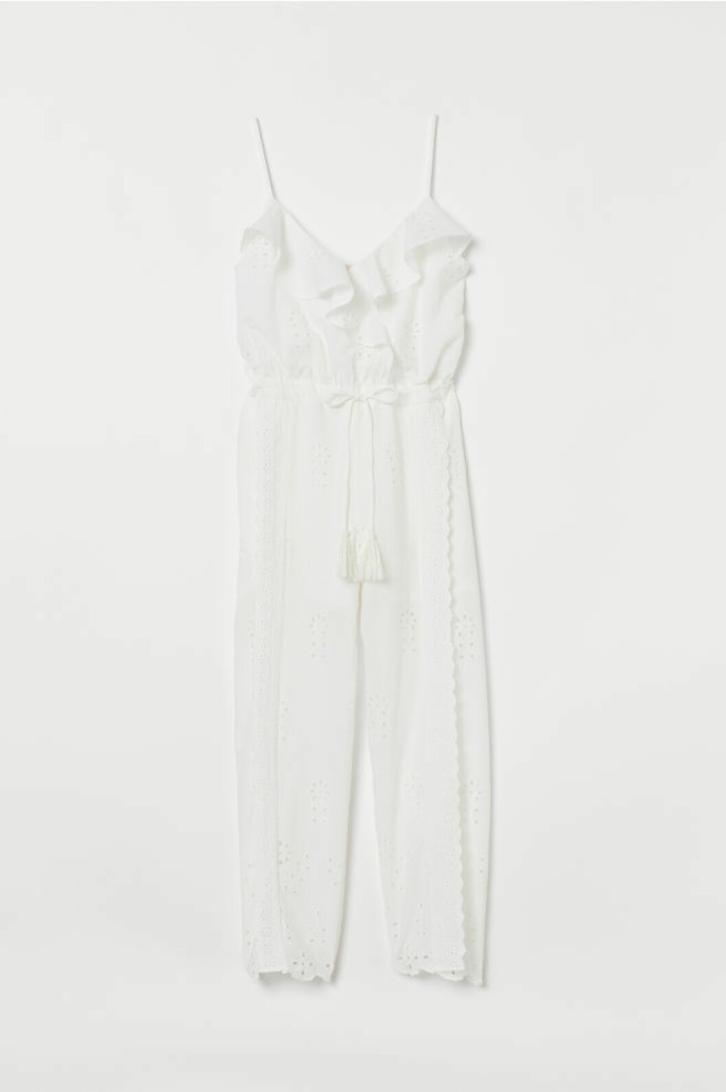Vit jumpsuit från h&M