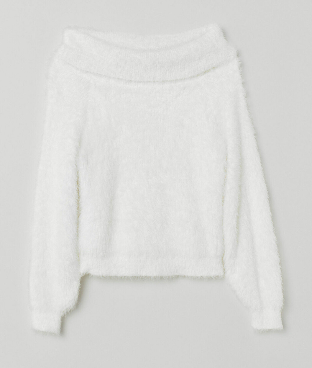 Vit stickad tröja till våren 2019