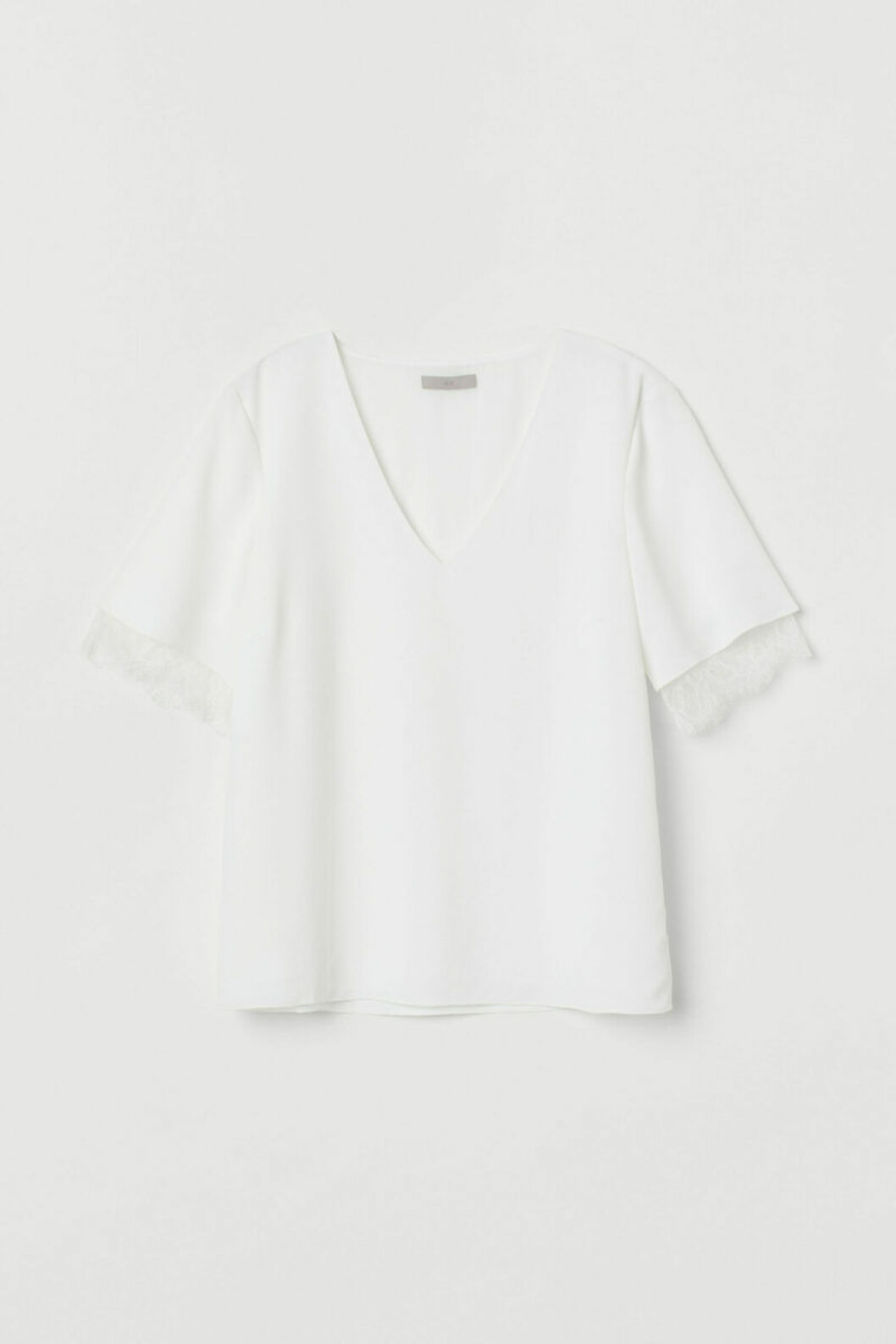 Vit t-shirt med spets
