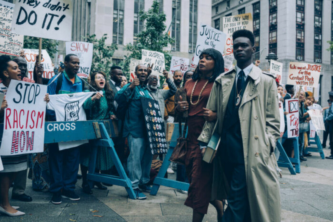 En bild från tv-serien When The See Us, som finns på Netflix.