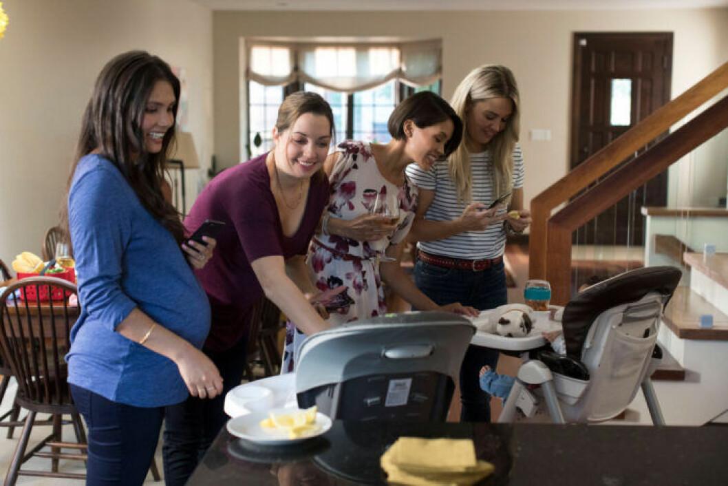Barnen är stundtals i fokus hos Workin' Moms.