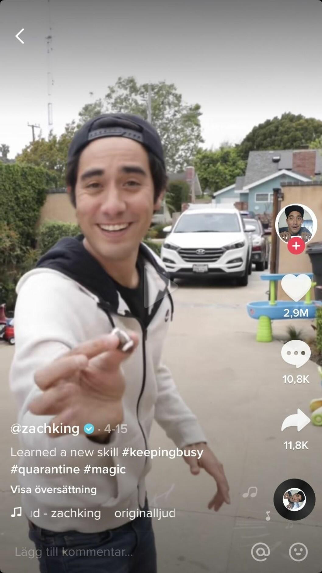 Zach King på TikTok