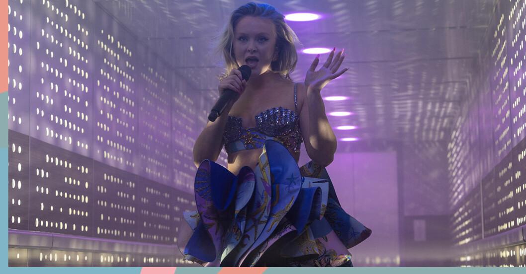 Zara Larsson uppträdde på P3 guld från en hiss.