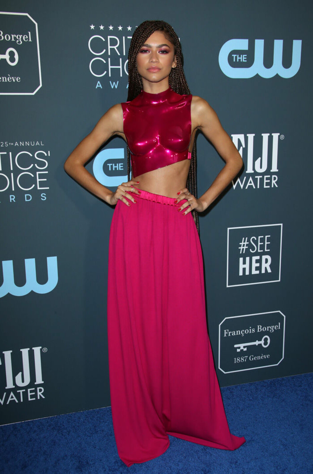 En bild på skådespelerskan Zendaya på Critics' Choice Awards 2020.